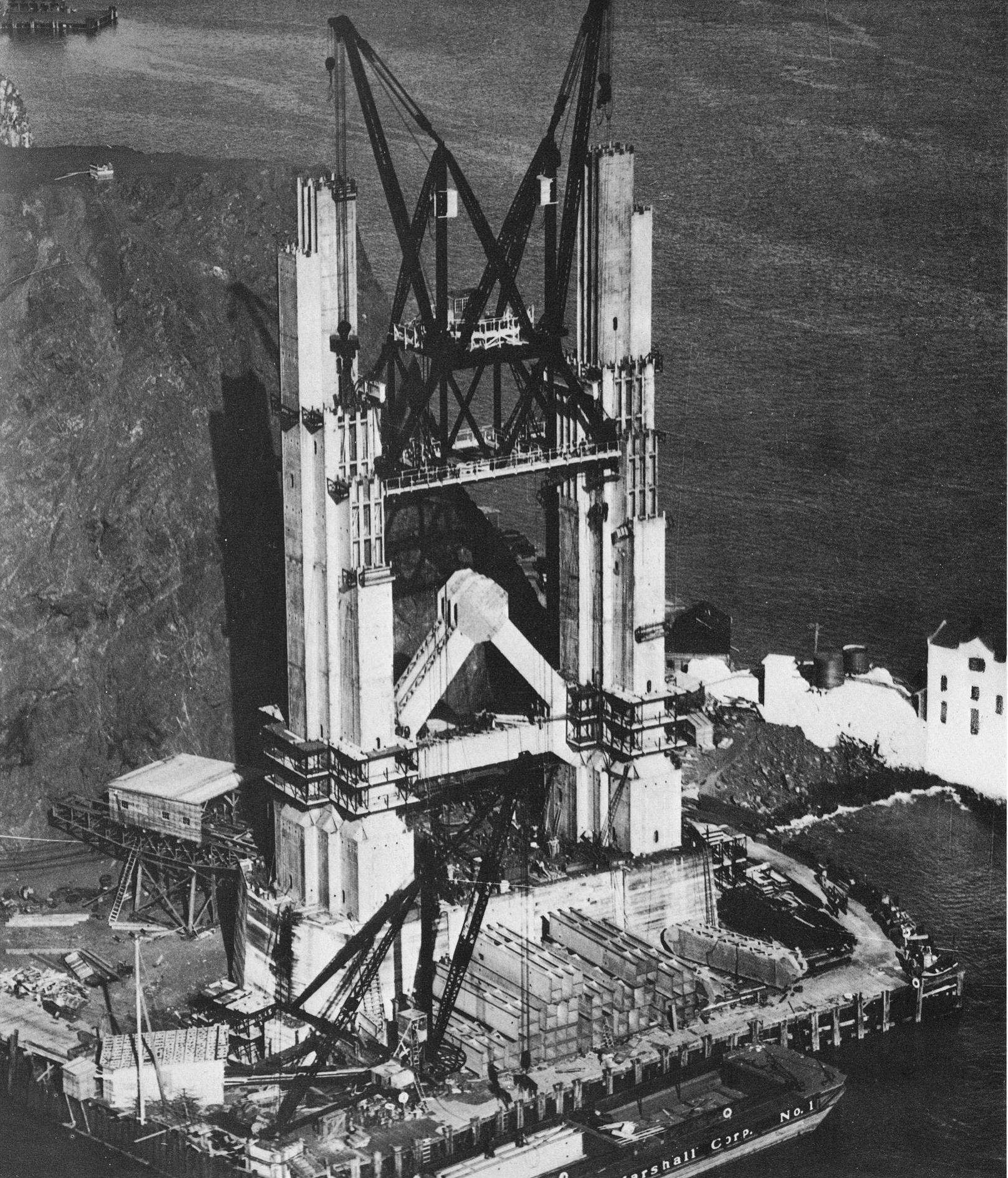 Golden Gate Bridge - Construction