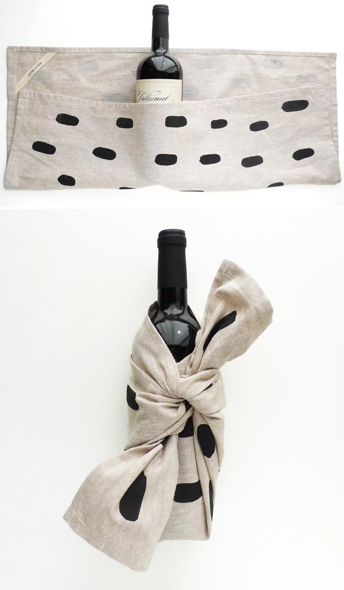 Flaska i handduk